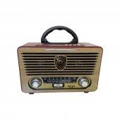 Meier M 115bt Usb Sd Bluetooth Şarjlı Nostaljik Radyo
