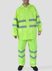 Reflektörlü Yağmurluk Takım (Sarı) İş Güvenliği