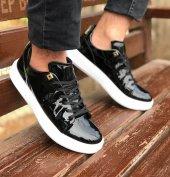 Conteyner 513 Rugan Siyah Renk Günlük Ayakkabı