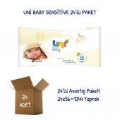 Uni Baby Sensitive Islak Havlu Mendil 24lü