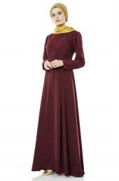d165451b21c67 Fashion Night Güpürlü Abiye Elbise Mürdüm 4179 51