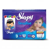 Sleepy Sensitive Jumbo Midi Bebek Bezi 4 9 Kg 48 Adet 3 No.