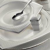 Kütahya Porselen Bone Mare 62 Parça 9680 Desenli Yemek Takımı