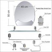 40x50cm Metal Krom Banyo Tuvalet Lavabo Boy Duvar Ayna Seti