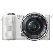 Sony Alpha A5000 20.1 Mp Aynasız Dijital Fotoğraf Makinesi (Beyaz)