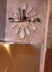 M3 Decorium Mutfak Kaşık Çatal Ayna Saat