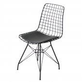 Evform Tel Sandalye Mutfak Bahçe Ofis Sandalyesi