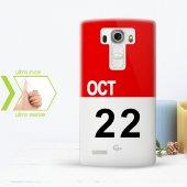 Kişiye Özel Lg G4 İnce Şeffaf Silikon Telefon Kapağı (Takvim 1)