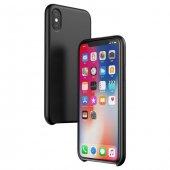Baseus Original İphone X Siyah Silikon Kılıf Arka Koruyucu Kapak