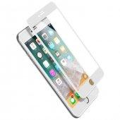 Baseus İphone 7 8 8 Edge Ekran Koruyucu Beyaz Cam
