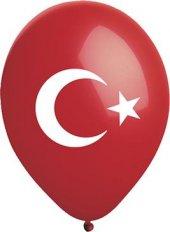 100 Adet Türk Bayraklı Balon Ay Yıldızlı Balon 30 Cm 1. Kalite Latex Balon