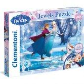 Karlar Ülkesi Frozen Taş Yapıştırmalı 100 Parça Puzzle Clementonı Prenses Elsa Ve Anna Puzzle