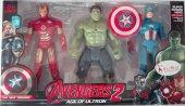 Kaptan Amerika Demir Adam Ve Hulk 3 Lü Işıklı Figür Seti