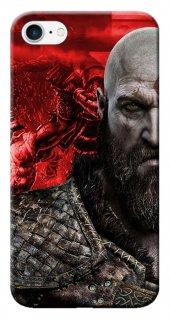 Iphone 6 6s Kılıf Silikon Baskılı Kratos God Stk 251