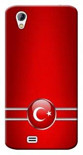 General Mobile Discovery 2 Mini Kılıf Silikon Baskılı Türk Bayrağ