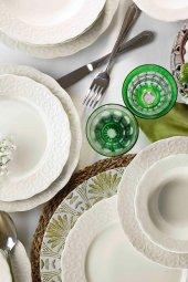 Kütahya Porselen Bone İrem 48 Parça Yemek Seti Dekorsuz