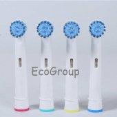 4 Adet Oral B Uyumlu Sensitive Clean Diş Fırçası Yedek Başlığı