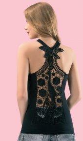 Sırtı Kelebek Figürlü Dantelli Bluz Kt6137