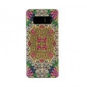 Samsung Galaxy Note 8 Kapak Farsh El Yapımı Kilim Desenli Kumaş D