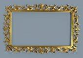 Sumbul Ayna Cercevesi 70x100 Altın