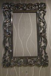 Papatya Ayna Cercevesi 70x100 Siyah