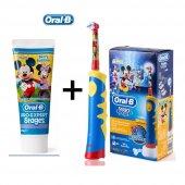 Oral B Mickey D10 Şarj Edilebilir Diş Fırçası+stages 75ml