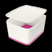 Leitz Mybox Saklama Kutusu Pembe Beyaz L 5216