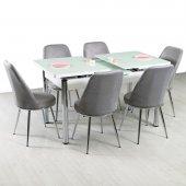 Masa Sandalye Takımı Mutfak Masası Cam Açılır