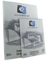 Alex Schoeller A 5 Spiralli Eskiz Blok 50 55 Gr 30...