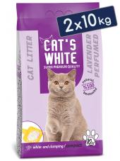 Cats White Lavanta Kokulu Topaklaşan Doğal Bentonit Kedi Kumu 12