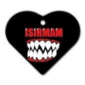 Dalis Pet Tag Isırmam Diş Desenli Geniş Kalp Kedi Köpek Künyesi