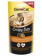 Gimcat Crispy Bits Bağışıklık Destekleyen Vitaminli Kedi Ödülü 40