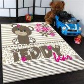 Ayı Teddy Desenli Çocuk Odası Halısı