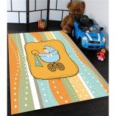 Bebek Arabalı Çocuk Odası Halısı