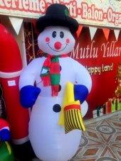 Yılbaşı 2018 3metre Dev Noel Şişme Kardan Adam Kapı Önü Mağaza