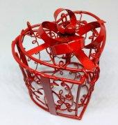 14 Şubat Sevgililer Günü 10 Lu Kırmızı Açılır Kalp Kafes 6x6 Cm