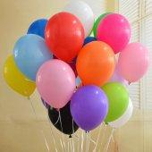 Normal Mat Klasik Karışık Renk 100 Adet Balon