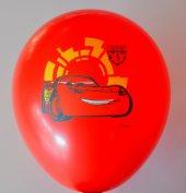Arabalar Şimşek Mcqueen Cars Baskılı Karışık Renk Balon