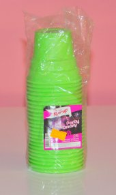 Plastik Bardak Yeşil Parti Bardağı 25 Adet
