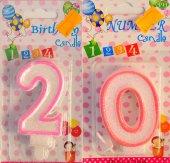 Yirmi 20 Yaş Kız Pasta Mumu Pembe Renk