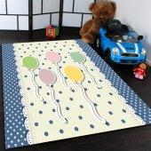 Renkli Balonlar Desenli Çocuk Odası Halısı