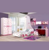 Farinay Çocuk Odası Pembe Pabuç Yatak Tasarımlı Takım