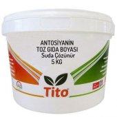 Tito Antosiyanin Toz Gıda Boyası Renklendirici Suda Çözünür 5