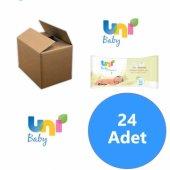 Uni Baby Yenidoğanlar İçin 24lü Islak Mendil