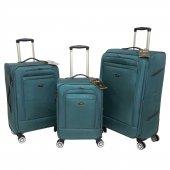 Nk 3 Lü Valiz Seti Hafif Kumaş Bavul Su Yeşili 021