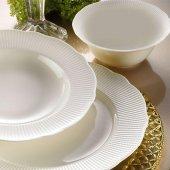 Kütahya Porselen İlay Sade 24 Parça Krem Yemek Takımı
