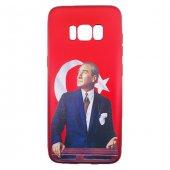 Samsung Galaxy S8 Plus 3d Atatürk Desenli Silikon Kılıf