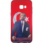 Samsung Galaxy C7 Pro 3d Atatürk Desenli Silikon Kılıf