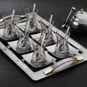Falez Versus Gold 41 Parça Bardaklı Çelik Çay Seti