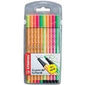 Stabilo Point 88 + Pen 68 Neon 10 Lu Paket